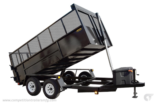 Hydraulic Dump Trailer</br> 6′ x 10′ 3.5 Ton Capacity w/ Dual Action Doors